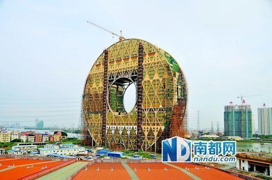 """广州""""铜钱大厦""""年底竣工征名花费10万"""