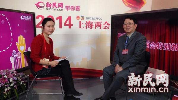 图说:上海市人大代表吴建荣做客新民网民生约见。新民网 记者 李若楠 摄
