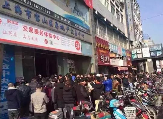 上海各区的交易中心依旧延续着上周的火爆情形