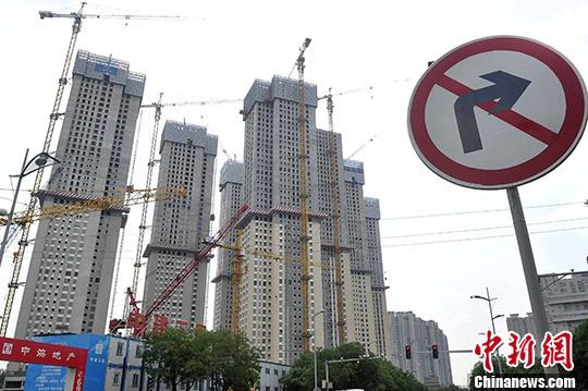 山西太原,城市中心的南移西进带动了房地产的建设与投资。 中新社记者 韦亮 摄