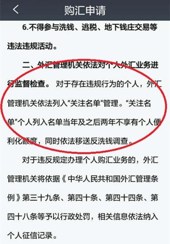 招商银行手机银行《个人购汇申请书》,提及惩处措施。