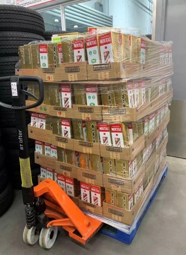 即将摆上Costco上海店货架销售的茅台酒(图片来源:茅台方面提供)