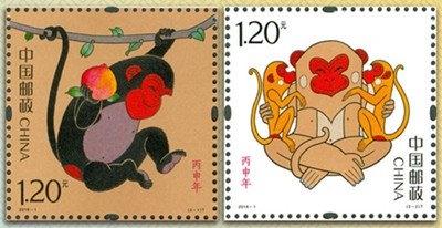 左图为灵猴献瑞,右图为福寿双至
