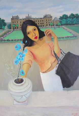 蓝色妖姬:创作于2015年,尺寸60×100cm