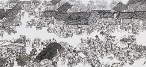 《汴河神往图》30米长卷局部二