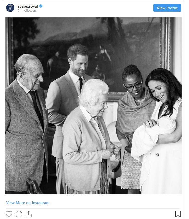 """哈里、梅根首次携子亮相!宝宝的名字果然很有""""贵族范""""_图1-5"""