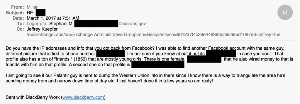 内部邮件透露 ICE利用Facebook数据追踪无证移民_图1-4