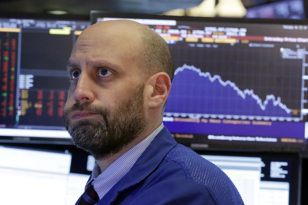 """美股继续萎靡不振!道指跌逾550点,市场惊呼""""今年白涨了""""_图1-1"""