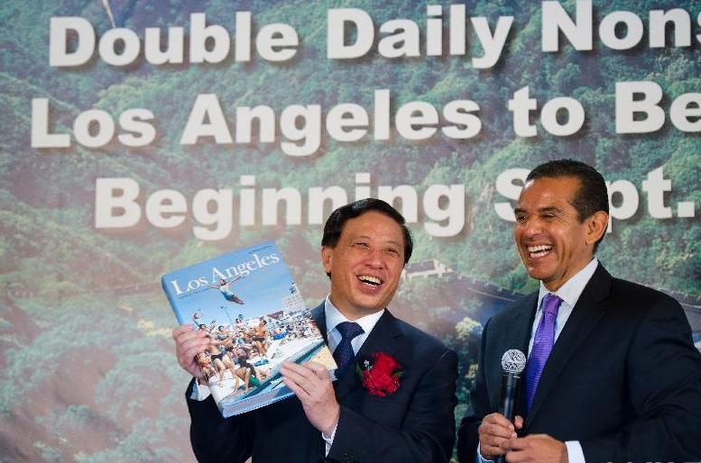 中国国航开通第二条北京直飞洛杉矶航线(组图)