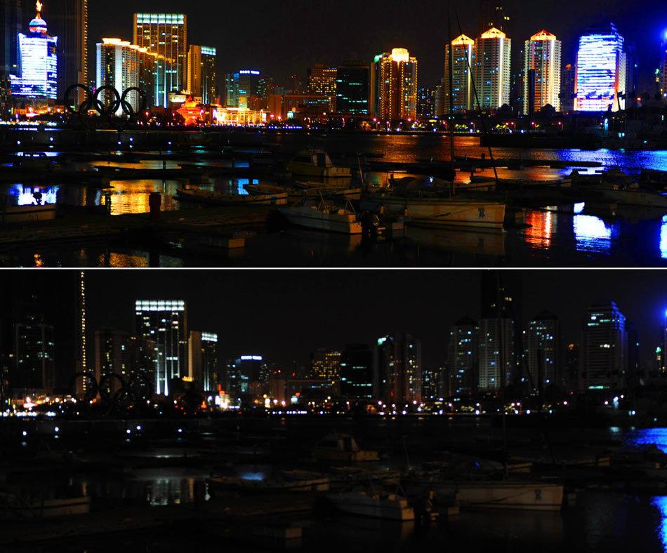 青岛市崂山区夜景
