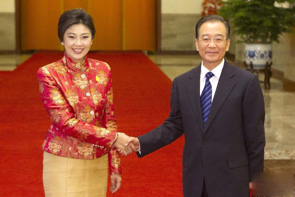 泰国女总理英拉访问中国