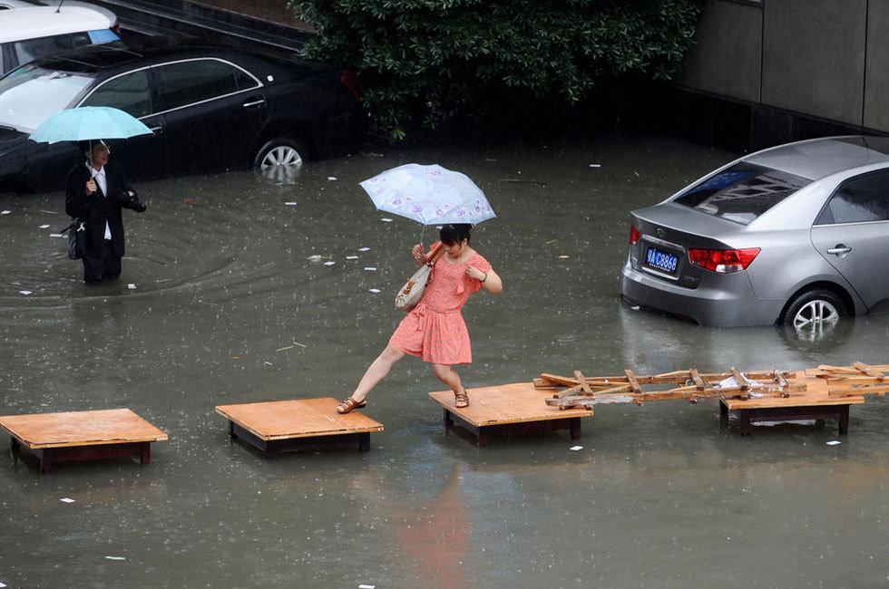 武汉暴雨 网友调侃又到看海时