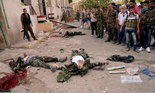 叙利亚发生连环爆炸 致百余人死伤(图)