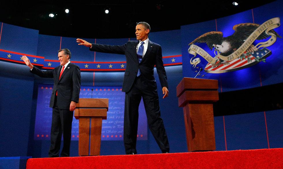 美国总统大选首场电视辩论举行(组图)
