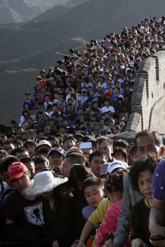 实拍中国:拥挤的节日(组图)