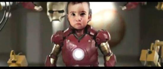 技术宅老爸曾把女儿打造成钢铁侠宝宝