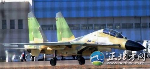 网上流传的国产歼-16照片。
