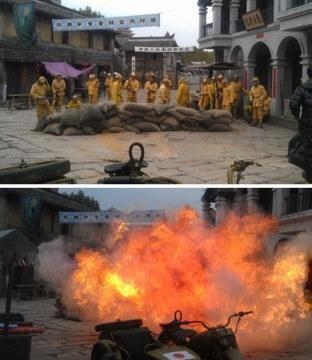 中国横店电影城,一年杀掉鬼子七亿,尸体连起来可绕地球三圈