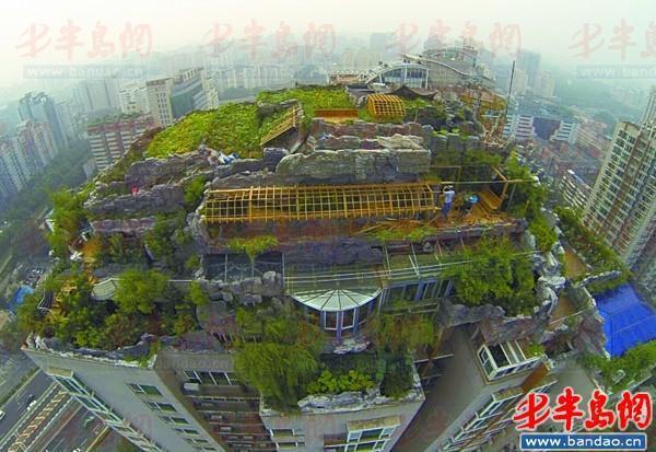 北京最牛楼顶别墅开拆 拆除现场曝光(组图)