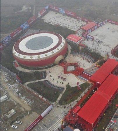 合肥鼓型建筑世界之最 开放式甄子丹现身(图)