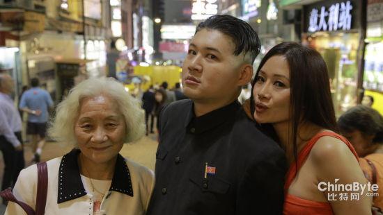 香港男子模仿金正恩走红 以假乱真网友点赞