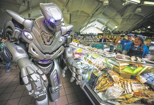 机器人光临菜市场