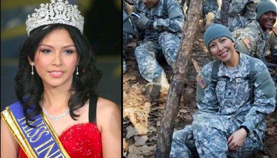 """为获美国公民身份 印尼""""最美女人""""加入美军任护士引发争议_图1-1"""