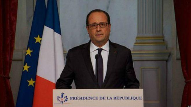 奥朗德:巴黎恐袭是IS策划的战争行为 法国将做出反击_图1-1
