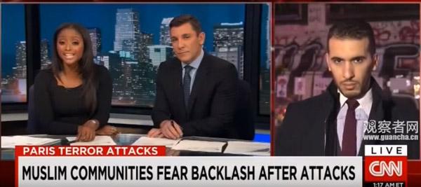 CNN主播问巴黎恐袭后谁在激化矛盾 嘉宾答:CNN_图1-3