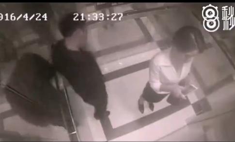 女汉子电梯内暴揍色狼 5秒KO