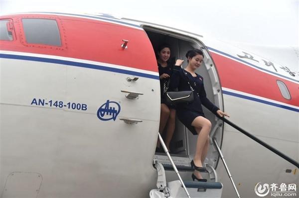 朝鲜空姐亮相中国引热议:原生态美女 身材超棒