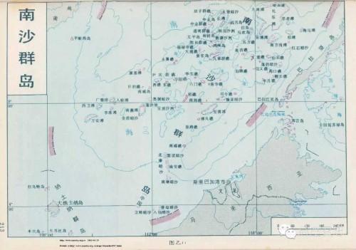 南沙群岛地图接下来请看南海岛礁的卫星图
