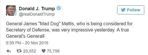 """美国新防长会是这个""""疯狗""""将军?来听听他的""""疯话""""_图1-4"""