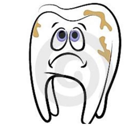 有害牙齿简笔画