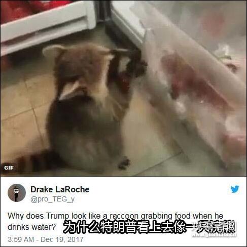 川普作国安报告双手捧杯喝水 美网友怀疑其患老年痴呆症_图1-4