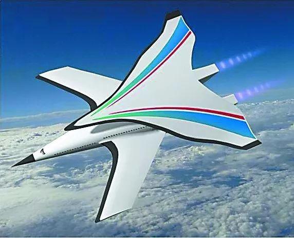 """采用高超音速""""i""""型布局的飞机设想效果图"""