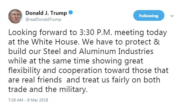川普签署命令对进口钢铝征税 中国商务部回应_图2-1
