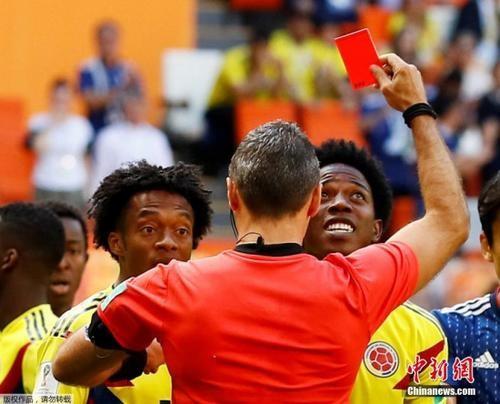 首张红牌诞生!世界杯日本队首战2-1哥伦比亚_图1-1
