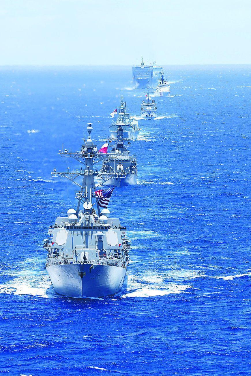 美环太军演踢中国拉响南海警报 中方与东盟军演回应_图1-3