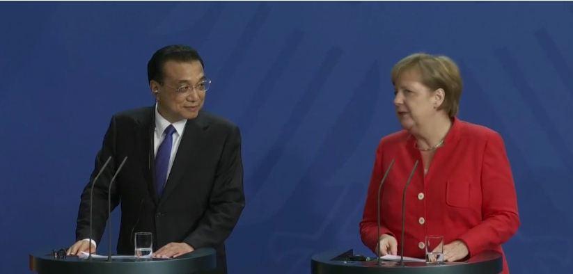 李克强会晤默克尔 中德签署200亿欧元贸易合作协议_图1-4