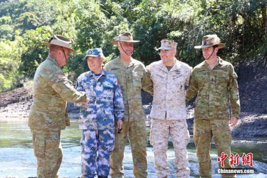 """中国海军首次参加""""科瓦里""""中澳美联合训练_图1-5"""