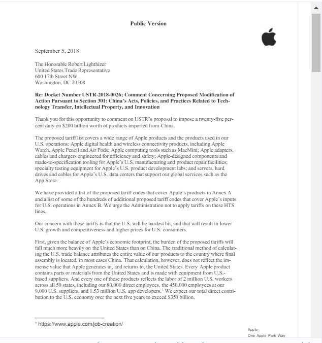 苹果警告升级美中贸易战将使产品涨价 川普:那你在美国建厂啊_图1-3