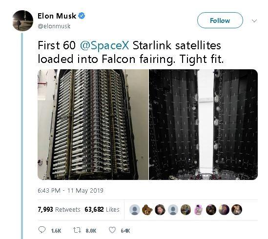 SpaceX互联网高速卫星首露面,马斯克称最快周二发射_图1-3