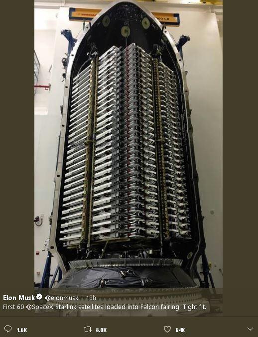 SpaceX互联网高速卫星首露面,马斯克称最快周二发射_图1-4