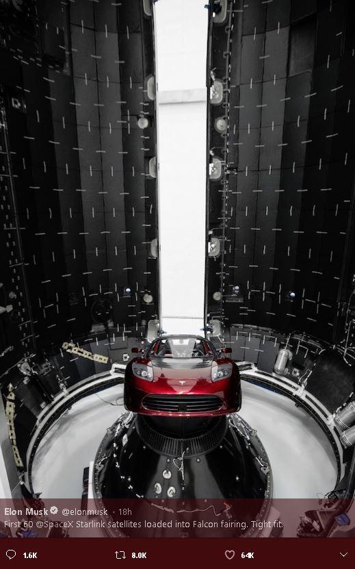 SpaceX互联网高速卫星首露面,马斯克称最快周二发射_图1-5