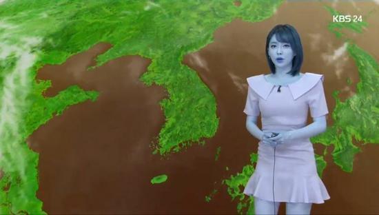 韩国女主播皮肤变成蓝色(KBS新闻)