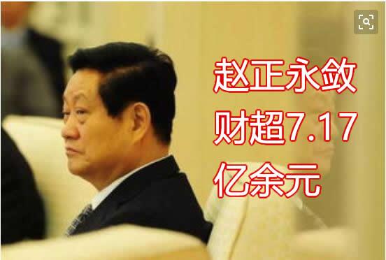 赵正永敛财超7.17亿余元