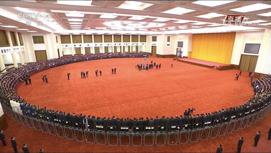 中国最高规格表彰大会上的六个细节:湖北团在合影中央_图1-5