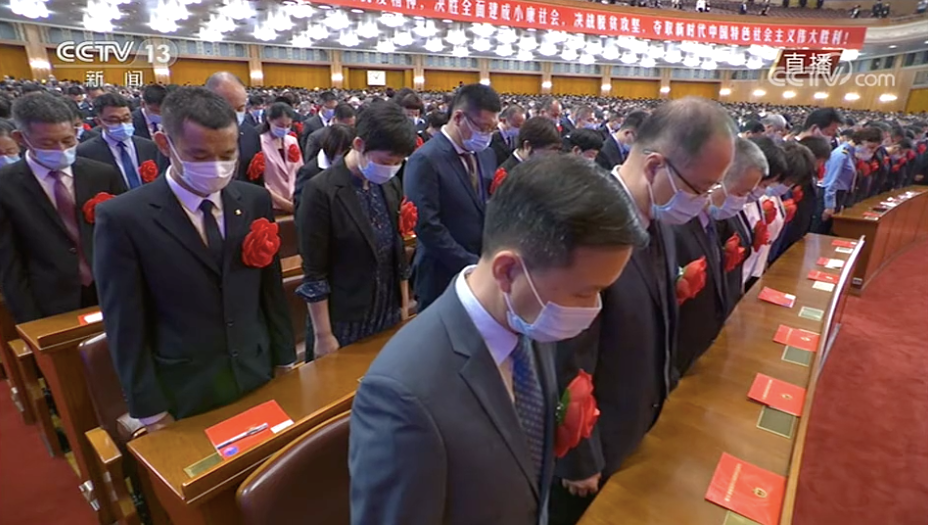 中国最高规格表彰大会上的六个细节:湖北团在合影中央_图1-6
