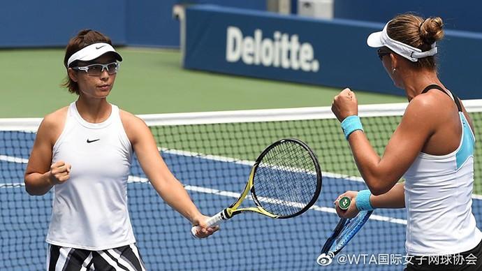 中国选手徐一�[晋级美网女双决赛_图1-3